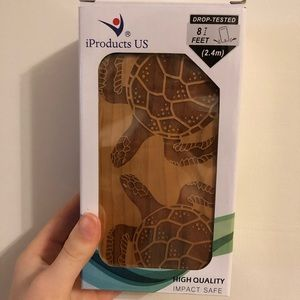Wooden Turtle IPhone 8+ Case